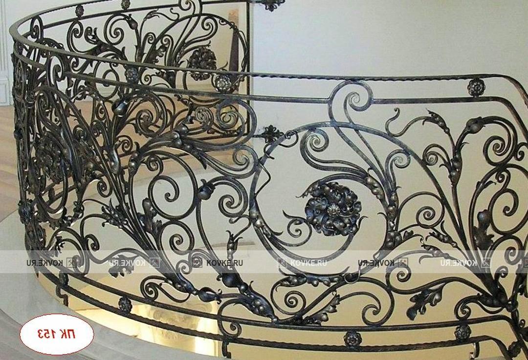 """Кованые перила фото цена Каталог перил для лестницы из металла на заказ 2017 :: """"СТУДИЯ КОВКИ'MD"""