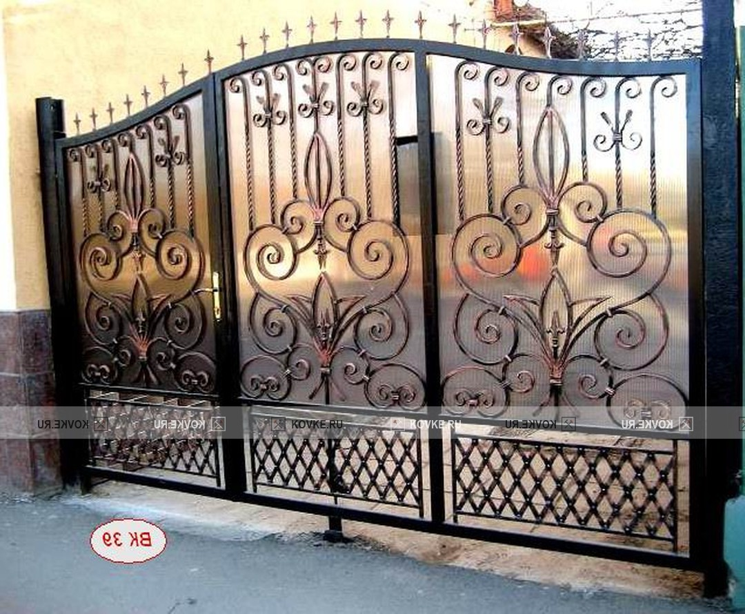 Кованые ворота и их дизайн